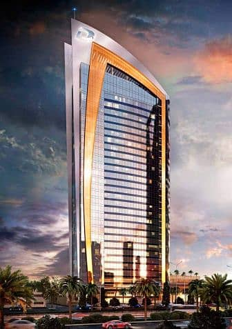 1 Bedroom Apartment for Sale in Riyadh, Riyadh Region - Fendi-styled luxury hotel apartments in DAMAC Esclusiva overlooking Riyadh's famous Kingdom Tower